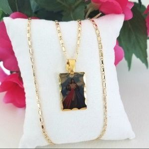 Jewelry - Divine Mercy Picture Necklace